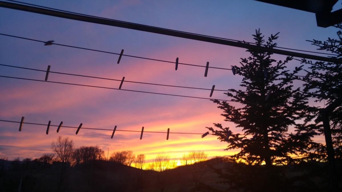 Sončni zahod nad Lokavcem
