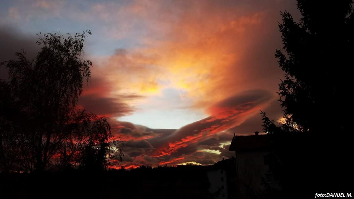 Sončni zahod nad Slovensko Bistrico