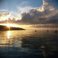 Sončni zahod Slovenska obala