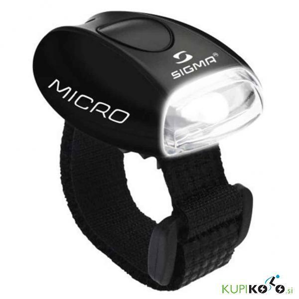Kolesarska svetilka Sigma Micro (bela svetloba)