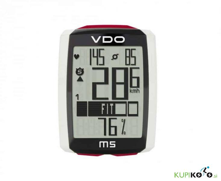 Kolesarski števec VDO M5 kadenca + srčni utrip (brezžični)
