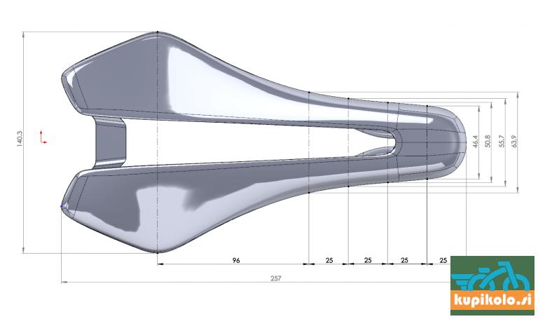 Kolesarski sedež Berk Dila Padded 140mm