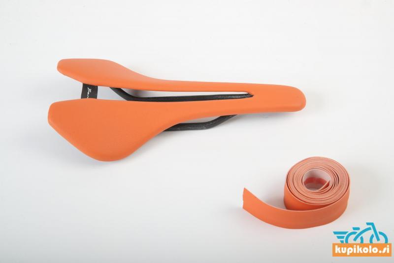 Kolesarski sedež Berk Lupina Orange padded combo