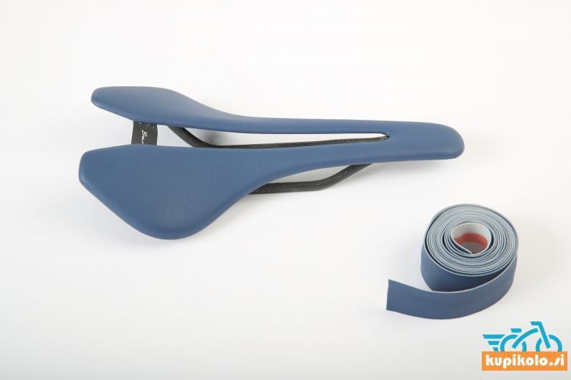 Kolesarski sedež Berk Lupina Grey-Blue padded combo