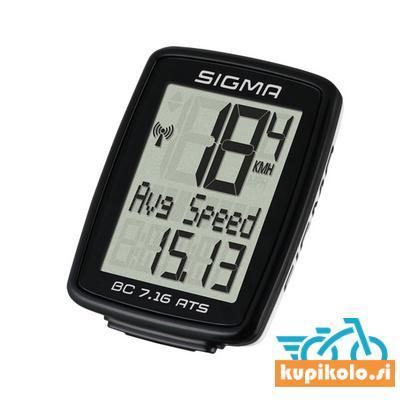 Brezžični kolesarski števec Sigma BC 7.16 ATS
