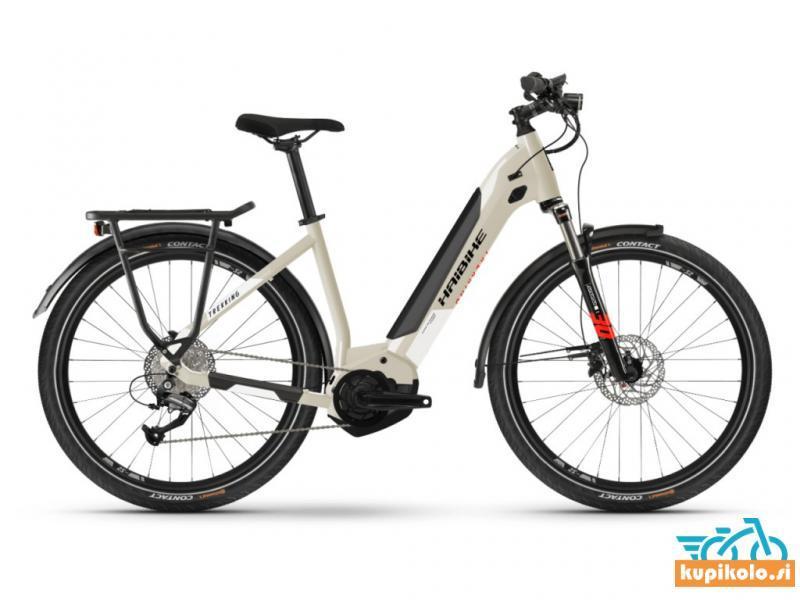 Haibike Električno kolo Haibike Trekking 4 Low step i500Wh desert/white 2021