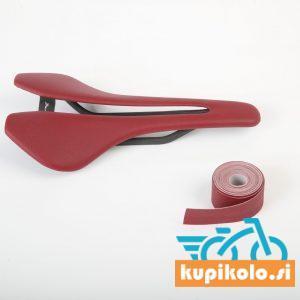 Kolesarski sedež Berk Lupina Bordaux red padded combo