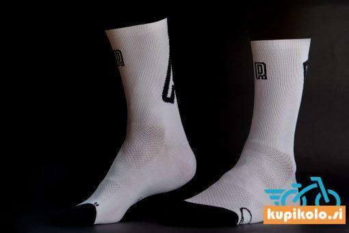 Kolesarske nogavice Primož Roglič bele