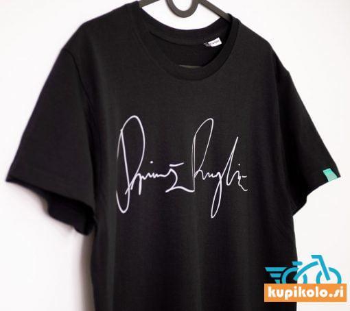 Majica PR – črna s podpisom